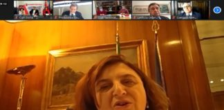 Nunzia Catalfo, ministra del Lavoro, interviene al dibatto sul Piano del Lavoro di Cgil