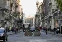 Via Etnea a Catania giorno 11 maggio 2020 (Fase 2 Covid-19)