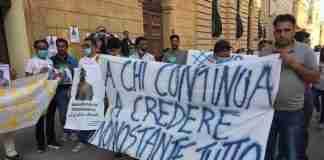 Manifestazione del 12/06/2020 contro il caporalato in ricordo di Andan Siddique. Caltanissetta (Foto Flai Cgil Sicilia)