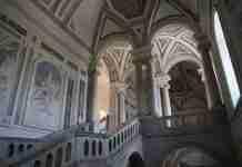 Lo scalone monumentale del Monastero dei benedettini di Catania, polo umanistico di UniCt